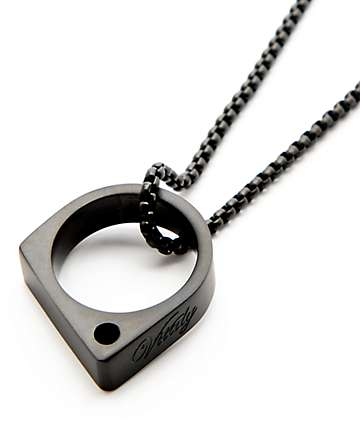 Vitaly Sua Matte Black Necklace
