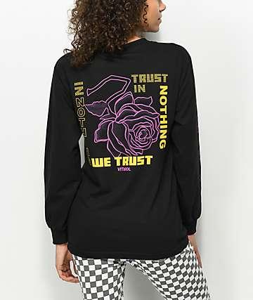 Vitriol In Nothing We Trust Black Long Sleeve T-Shirt