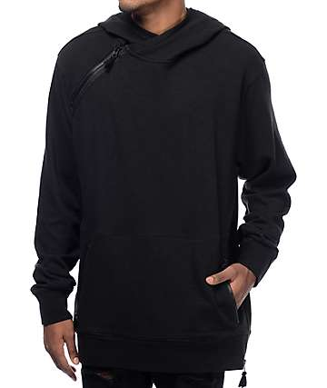 Volcom ASYM Black Pullover Tech Fleece Hoodie
