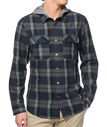 Volcom Alcoa Hooded Flannel Shirt