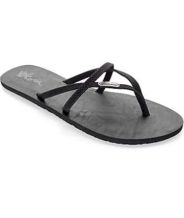 Volcom All Night Long Black Sulfur Sandals