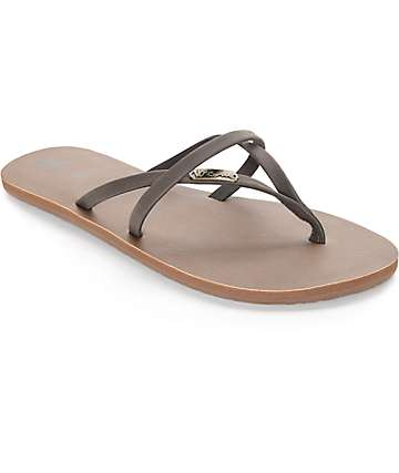 Volcom All Night Long Brown Sandal