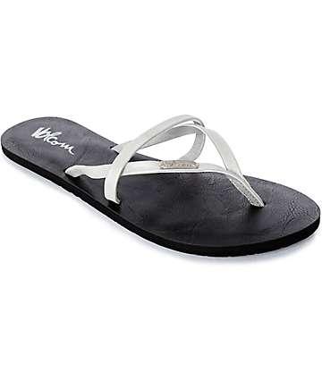 Volcom All Night Long sandalias en color plata