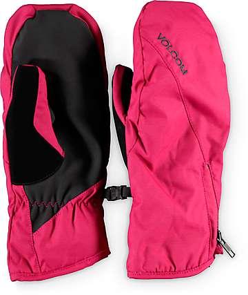 Volcom Bistro Maroon Womens Snowboard Mittens