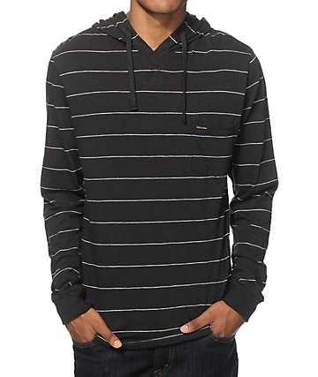Volcom Blanco Long Sleeve Hooded Pocket Shirt