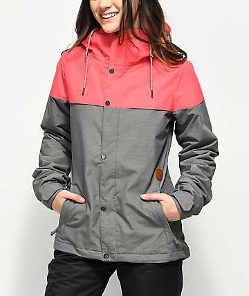 Volcom Bolt 10K chaqueta de snowboard en rosa fuerte