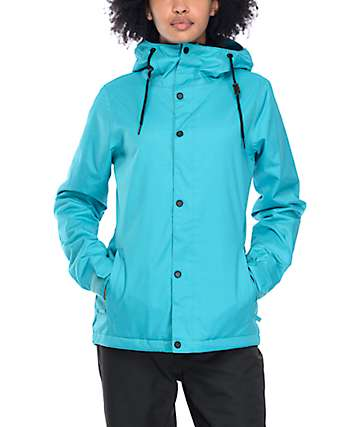 Volcom Bolt 8K chaqueta de snowboard en verde azulado