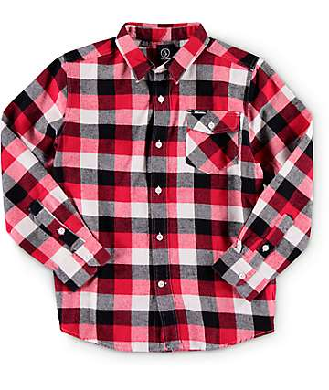 Volcom Boys Bert Flannel Shirt