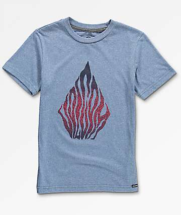 Volcom Boys Blooms Day Heather Blue T-Shirt