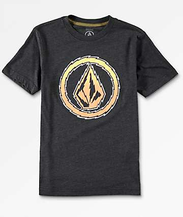 Volcom Boys Buzz Stone Heather Charcoal T-Shirt