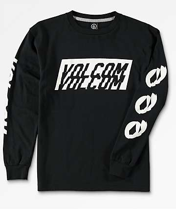 Volcom Boys Chopper Black Long Sleeve T-Shirt