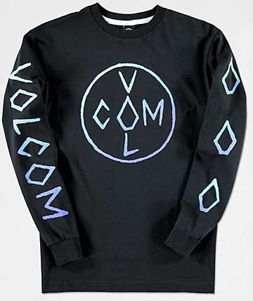 Volcom Boys Cross Black Long Sleeve T-Shirt