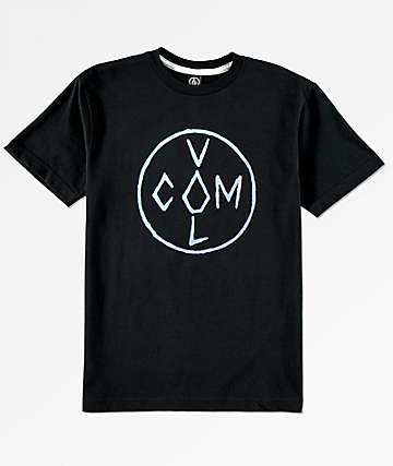 Volcom Boys Cross Black T-Shirt