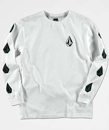 Volcom Boys Deadly Stones White Long Sleeve Shirt