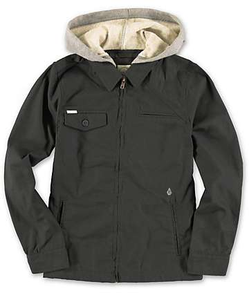 Volcom Boys Faceted Black Jacket