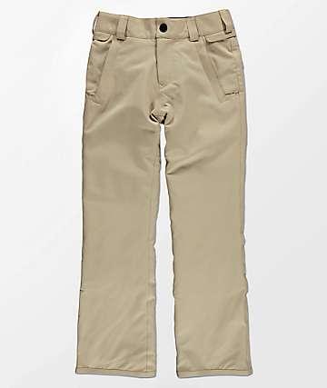Volcom Boys Freakin Chino Khaki 10K Snowboard Pants