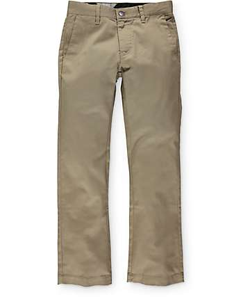 Volcom Boys Frickin Modern Regular Fit Chino Pants