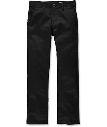 Volcom Boys Frickin Modern Straight Stretch Black Pants