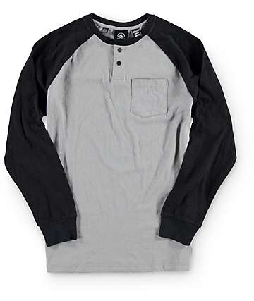 Volcom Boys Keller Henley Pocket Baseball T-Shirt