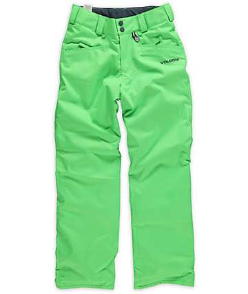 Volcom Boys Legend Green Insulated Snowboard Pants