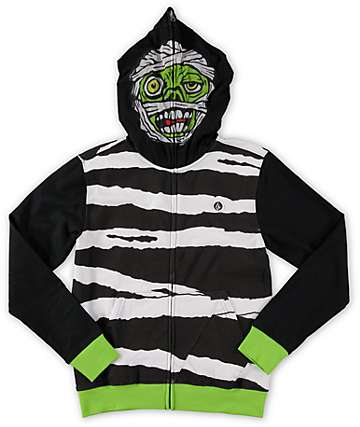 Volcom Boys Mummy Full Zip Up Face Mask Hoodie