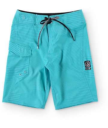 Volcom Boys Stone Mod Bright Turquoise Boardshorts