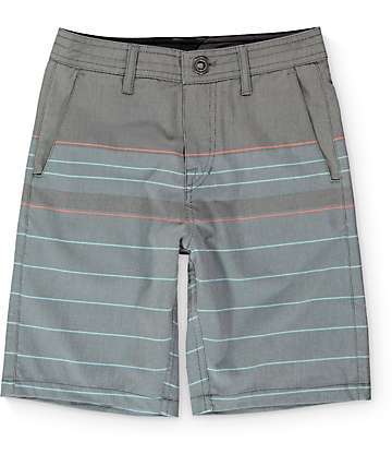 Volcom Boys Surf N' Turf Stripe Hybrid Shorts