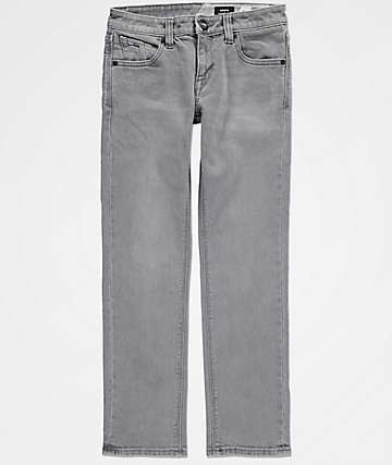 Volcom Boys Vorta Power Gray Denim Jeans