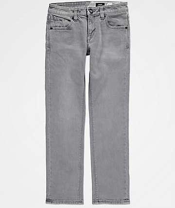 Volcom Boys Vorta Power Gray Denim Jeans