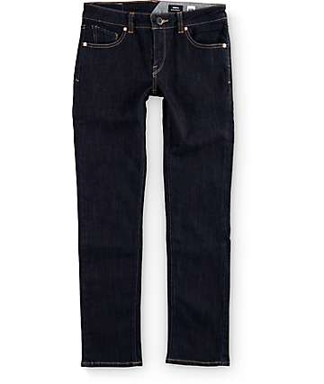 Volcom Boys Vorta Rinse Slim Fit Jeans