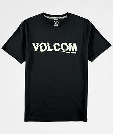 Volcom Boys Warp Black T-Shirt