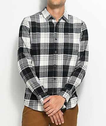 Volcom Caden camisa de franela en blanco y negro
