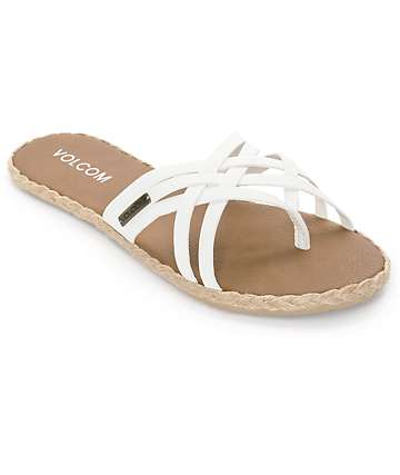 Volcom Check In White Sandals