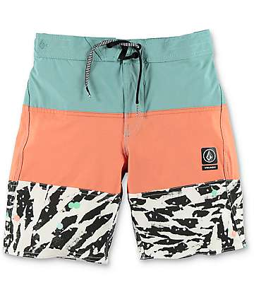 Volcom Chopped Riff Boys Sea Blue Boardshorts