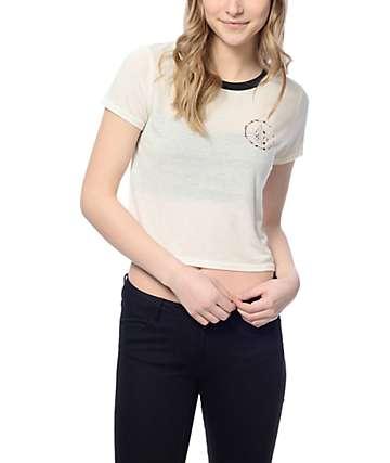 Volcom Circle Stone White Ringer T-Shirt
