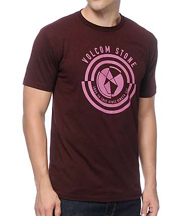 Volcom Coin Burgundy T-Shirt