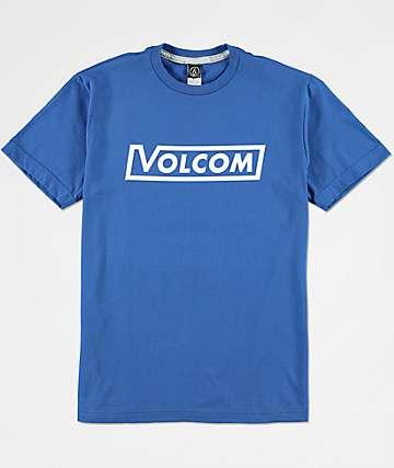 Volcom Corp camiseta azul para niños