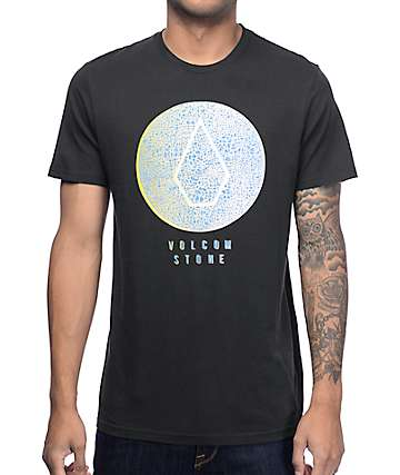 Volcom Cracked Front Black T-Shirt