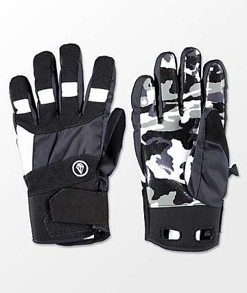 Volcom Crail Black & White Snowboard Gloves