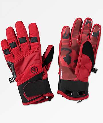 Volcom Crail Red Snowboard Gloves