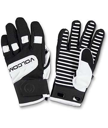Volcom Crail White & Black Snowboard Gloves