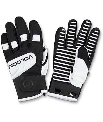 Volcom Crail guantes de snowboard en blanco y negro
