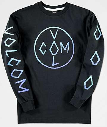 Volcom Cross camiseta negra de manga larga para niños