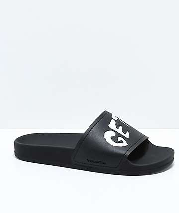 Volcom Don't Trip Black Slide Sandals