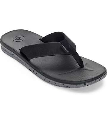 Volcom Draft Black & Charcoal Sandals