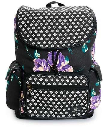 Volcom Dropout Floral & Polka Dot Rucksack Backpack