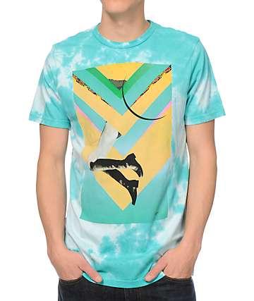Volcom Ehoy 3 Blue Tie Dye T-Shirt