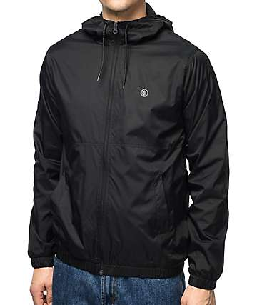 Volcom Ermont Black Windbreaker Jacket