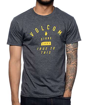 Volcom Etch Heather Black T-Shirt