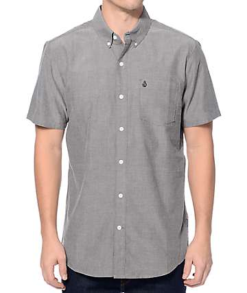 Volcom Everett Black Oxford Button Up Shirt